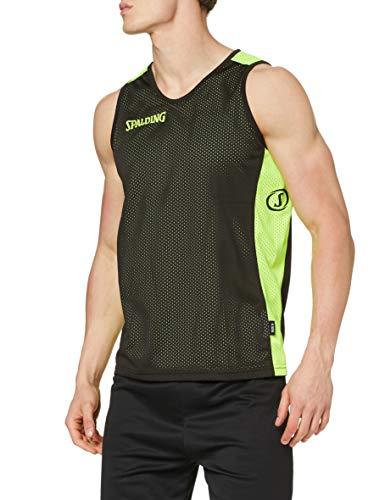 Spalding Bekleidung Teamsport Essential Reversible Shirt, Schwarz/Neongelb, XXS
