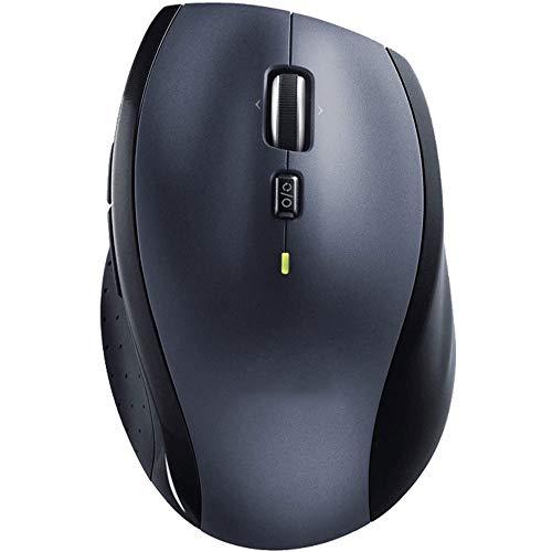 ZSLLO draadloze muis – Ergonomisch gevormde rechtshandige vorm, hypersnel scrollen en USB-unifying ontvanger, voor computers en laptops, donkergrijs