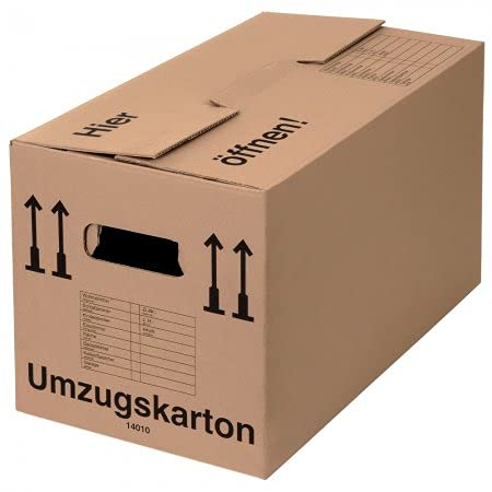 75Cajas de mudanzas (profesional) Stabil + 2-ondulés–Mudanza (cartón Cajas Empaquetado Caja de libros