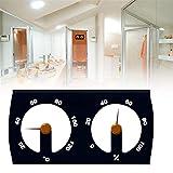 Boomboo Higrómetro para termómetro de Sauna, termómetro de Aluminio de Doble Esfera, Accesorio para Sala de Sauna, medidor de Temperatura y Humedad Interior para Oficina en el hogar