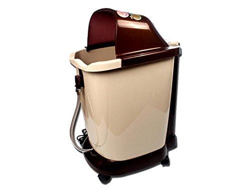AMYMGLL Baño de pies Spa Calentador de agua con (rueda no automáticas de masaje, cubo de 0,42 M de profundidad, función de vibración, control remoto inalámbrico)