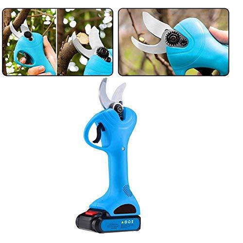 OOFAY Elektrische Gartenschere, professionelle schnurlose Baumschnitt-Gartenschere-Werkzeug Gartenschere innerhalb von 30 mm 2Ah Lithium-Akku
