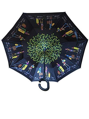 Innovativer Regenschirm, Umgekehrter Regenschirm, Reverse Umbrella, Inverted Umbrella, Sonne, Sonnenschutz, Sonnenschirm, Geschenk (Reisen/Lifestyle)
