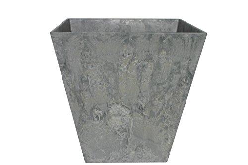 Artstone Pflanzgefäß Pflanzkübel Ella, frostbeständig und leichtgewichtig, Grau, 35x34cm