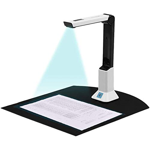 AOUSTHOP USB Document Scanner, Portable High-Definition Scanner Real-time Projection,Camera&Video Recording,OCR English A4 Format Bound Document, Teacher Business Live Demo Web Conference