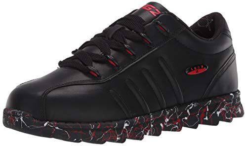 Lugz mens Changeover 2 Splash Classic Low Top Fashion Sneaker,Black/Mars Red/White,12 M US