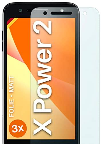moex Schutzfolie matt kompatibel mit LG X Power 2 - Folie gegen Reflexionen, Anti Reflex Bildschirmschutz, Matte Bildschirmfolie - 3X Stück
