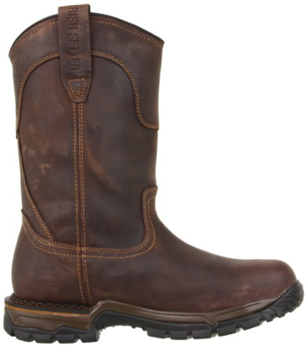 Irish Setter mens 83906 Wellington Steel Toe Work industrial and construction boots, Brown, 9.5 US