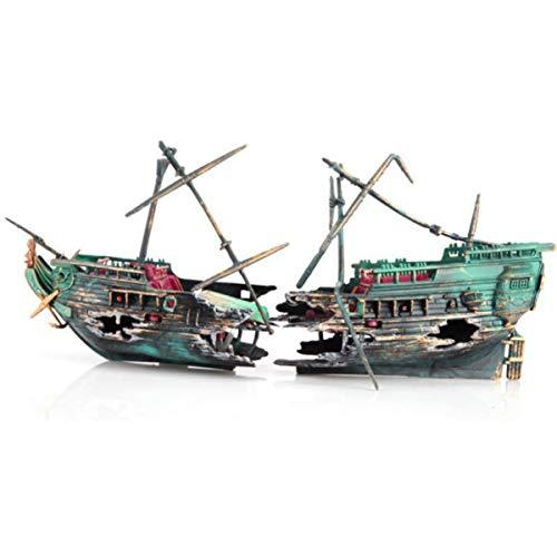 Ponacat hundido naufragio de un Barco en Movimiento naufragio Acuario con mástiles...