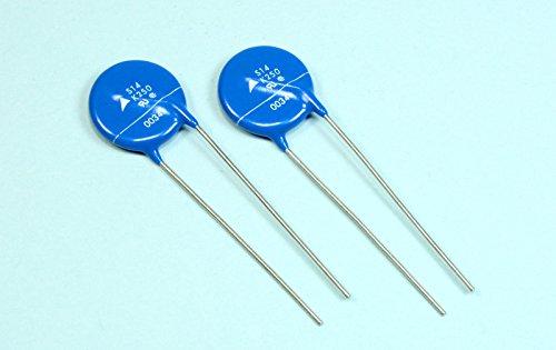 (F #64) 10pcs Epcos S14K250 250Vac 320Vdc Metal Oxide Varistor MOV