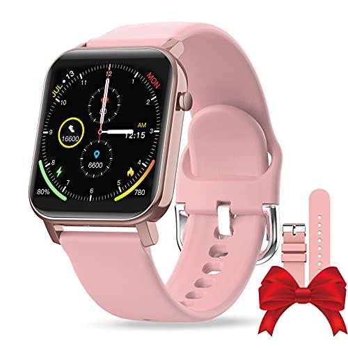 EPILUM Smartwatch, 1,4 Pulgadas de reloj inteligente mujer con Correa Repuesta,IP68 Impermeable pulseras mujer, con Pulsómetro,Calorías,Monitor de Sueño,Podómetro Monitores de Actividad.