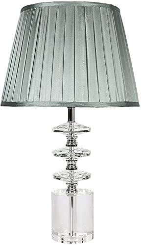 BoMiVa Lámpara de Mesa Lámpara de Mesa de Cristal Dormitorio Estudio Creativo Simple Hotel lámpara de mesita de Noche Cristal 35X60 cm