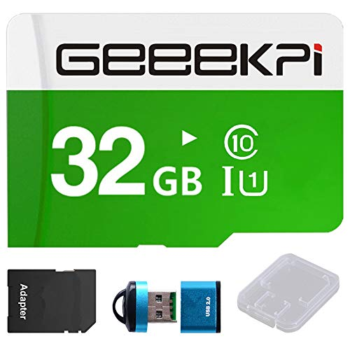 GeeekPi 32GB Preloaded (Noobs) SD Card for Raspberry Pi,Class 10 MicroSD Memory Card with Card Reader for All Raspberry Pi Models Pi 4, 3B+ (Plus), 3A+, 3B, 2, Zero