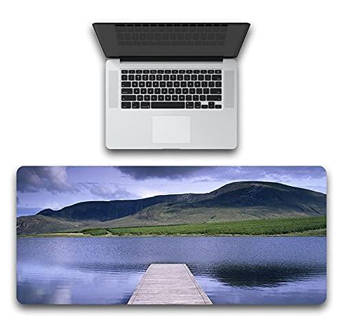 YVQLXJ Alfombrilla de Ratón Gaming Montañas del Cielo del Lago Azul Fibra Extrafina Mouse Pad para Computadora con Base de Goma Antideslizante para Ratón con Cable o Inalámbrico PC/Mac 700x300x3mm