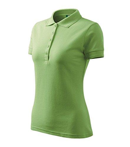 Adler Polohemd Poloshirt für Damen Pique Polo 200 grün Größe L