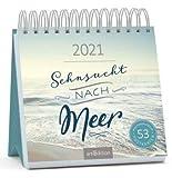 Sehnsucht nach Meer - Kalender 2021 - arsEdition-Verlag - Wochenkalender - Postkartenkalender mit wunderschönen Aufnahmen und Zitaten - 16,8 cm x 16,8 cm