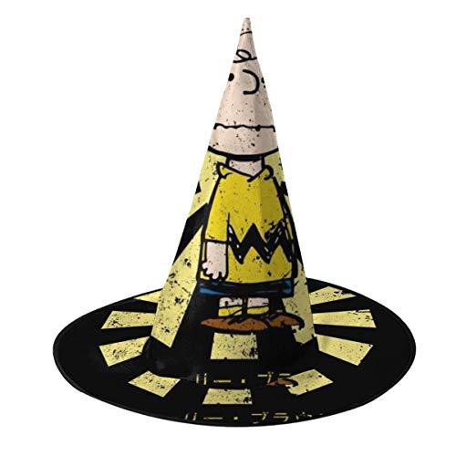 OJIPASD Charlie Brown Peanuts Retro Gorro de Bruja Japonesa para Halloween, Unisex, Disfraz para Vacaciones, Halloween, Navidad, Carnaval, Fiesta