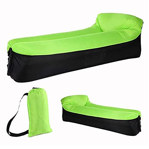 Esterilla Camping,colchón Hinchable,Al Aire Libre portátil Plegable Almohada Tumbona sofá de Aire Inflable Estera de Playa sofá Cama a presión Saco de Dormir de Ocio