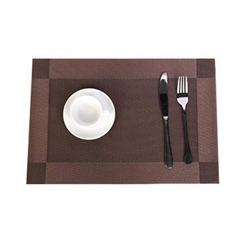Set De Table 45x30cm Table à manger PVC Tapis de cuisine Accessoires de cuisine PVC Placez-tampon de table de table pour table de chaleur étanche de table (Color : G)