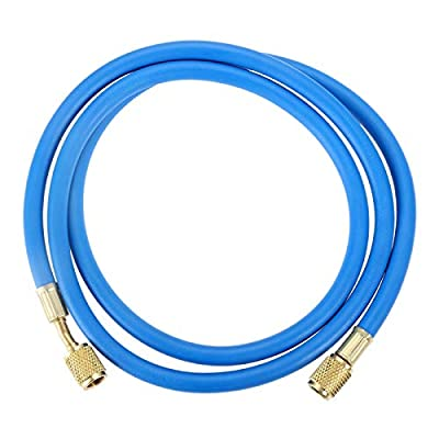 Aupoko R410A AC Refrigerant Charging Hoses, 60'' R410A HVAC Charging Hose with 1/4'' SAE Flare, with 800 PSI Working Pressure for R410A R22 R134A R12 R502 Air Condition System