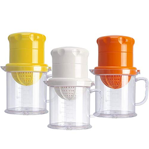 QKa Mini Manual Citrus Juicer Home Multi-Function Orange Juice Machine Lemon Juicer Drinking Fruit Citrus Squeezer Hand Pressure Cup, DREI