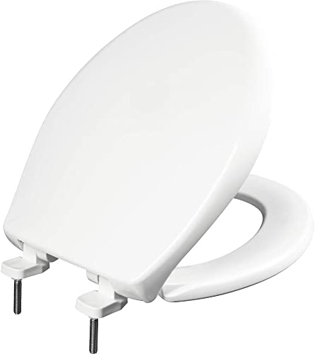 discount BEMIS 790TDGSL online sale 000 Heavy Duty Closed Front Plastic Toilet Seat with Cover will Slow Close, Never Loosen & Reduce Call-backs, ROUND, 2021 Plastic, White sale