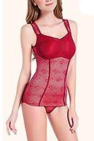 女性のためのボディーシェイパー薄いセクションの腹部リムインニング下着 モーダルベストの胸パッドパッドXLL、XXL、XXXL,red,XXL