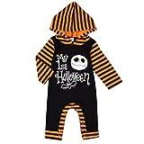 Janly Clearance Sale - Mameluco para bebés y niñas con capucha para niños de 12 a 18 meses (Negro)