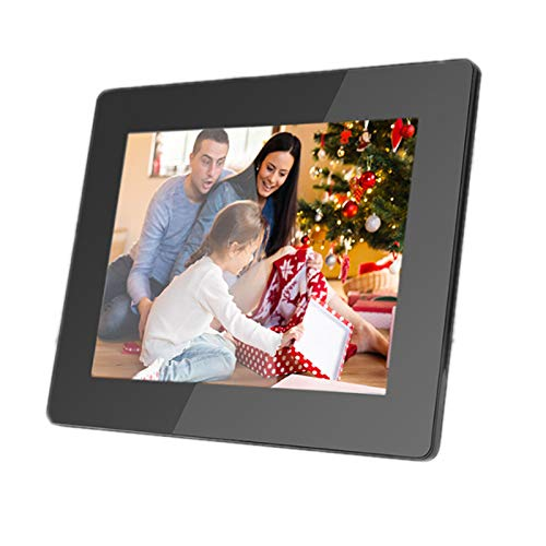 JFF Digital Picture Frame 8 Inch WiFi Digital Frame IPS Touch Screen 1080P Photo Frame, 16GB Large Memory Share Moments Instantly Via Mobile APP