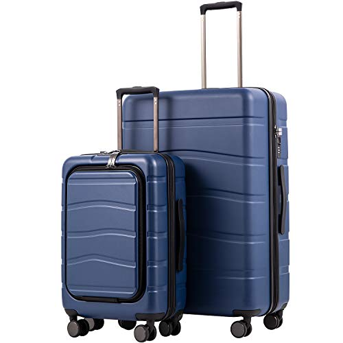COOLIFE Luggage Suitcase Carry On 100% PC Spinner...