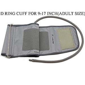 "Lotfancy Large 9-17"" D Ring Cuff Replacement H-003D H-CR24 for Omron Upper Arm Blood Pressure Monitor BP710 BP742 HEM-432C HEM-711AC HEM-712C HEM-712CLC ELITE7300IT"