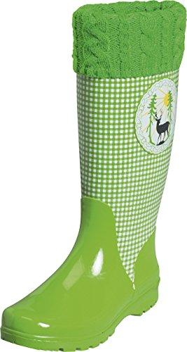 Playshoes Damen Trendiger Landhaus Gummistiefel, Grün (grün 29), 41
