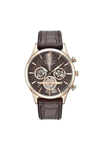 Gant Herren Multi Zifferblatt Quarz Uhr mit Leder Armband GT005003