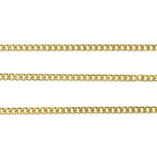 ジナブリング (JINA BRING) ステンレスチェーン サージカルステンレスSUS304 喜平 ネックレス チェーン ゴールド2mm 70cm