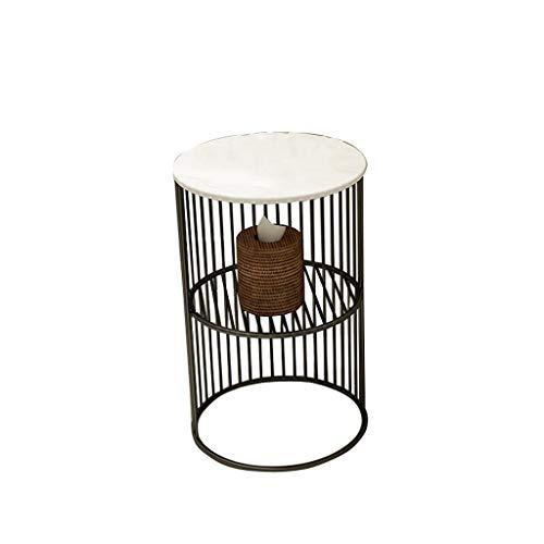 Mesa de café decorativa redonda de anidación para dormitorio, sala de estar y terraza, decoración de interior y exterior, mesa de anidación redonda, mesa auxiliar, color negro