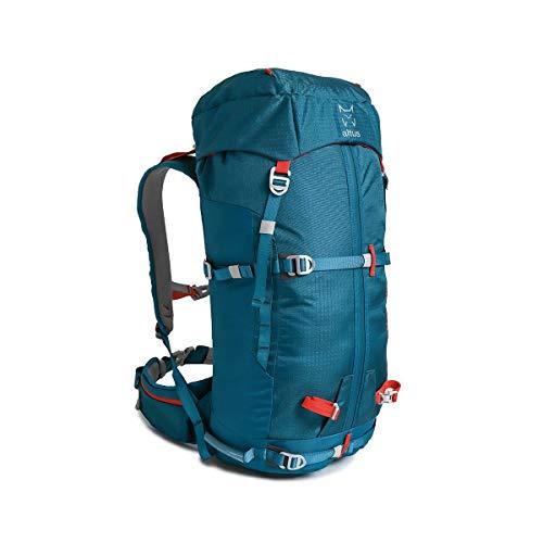 ALTUS - Mochila de Trekking Fitz Roy 45L, Ocean, 1,25 Kg | Técnica y Versátil | Montañismo, Escalada, Esquí | Espalda Termoconformada