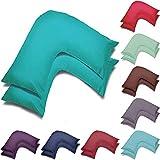 Wholesale Lot de 2 taies d'oreiller en forme de V, pour grossesse, maternité, soutien orthopédique, allaitement (bleu sarcelle)