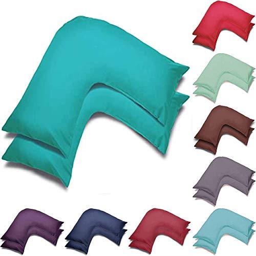 Wholesale Juego de 2 fundas de almohada en forma de V, para embarazo, maternidad, apoyo ortopédico para enfermería, fundas de almohada en V (verde azulado)