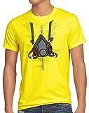 style3 Bad Meth Máscara Antigás Camiseta para Hombre T-Shirt Vestuario Crystal Breaking, Talla:M