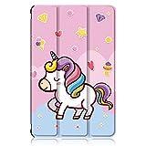 Xuanbeier Custodia per Samsung Galaxy Tab A 10' 1 2016 SM-T580/T585 (A6) Ultra-Sottile Cover con Funzione Supporto e Auto Sonno/Sveglia,Unicorno