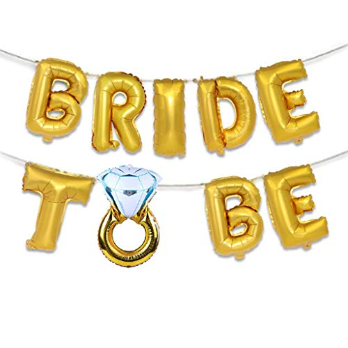 Tumao Bride to BE Party Decor 40 cm oro DIY Foil Letter Globos para despedidas de soltera, fiesta boda decoración