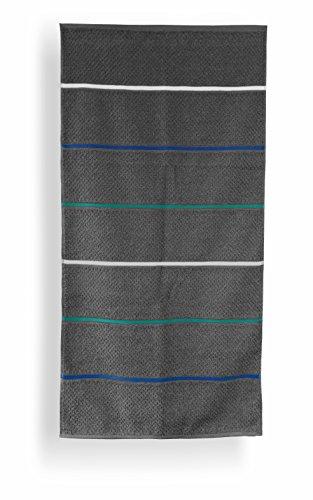 Santens SC00235700 Grana Serviette de Toilette Coton Gris 50 x 100 cm