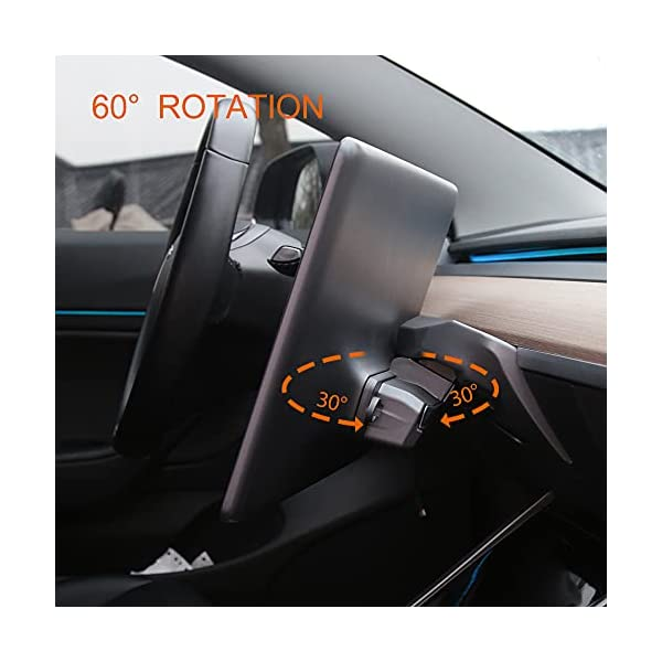 kejiu fit tesla model 3 y screen rotating holder accessories for 2017-2021 central control touchscreen upgrade screen…