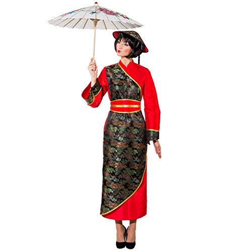 Kostüm Chinesin Gr. 42 Kleid lang Fasching Karneval Asiatin Andere Länder China