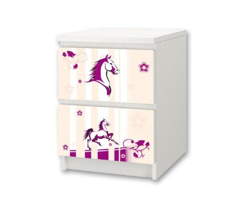 Stikkipix hästgård möbelklistermärke/dekal för barnkammare kommode/nattbord MALM från IKEA – NS26 – möbler ingår ej