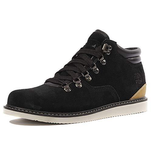 Timberland Men's Newmarket Hiker Boot (12 D(M) US, Black Silk Suede)