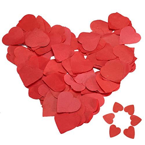7500 pezzi coriandoli cuori, tessuto coriandoli cuore rosso palloncino riempimento carta tavolo coriandoli per matrimonio compleanno san valentino festa battesimo decorazione del partito del bambino