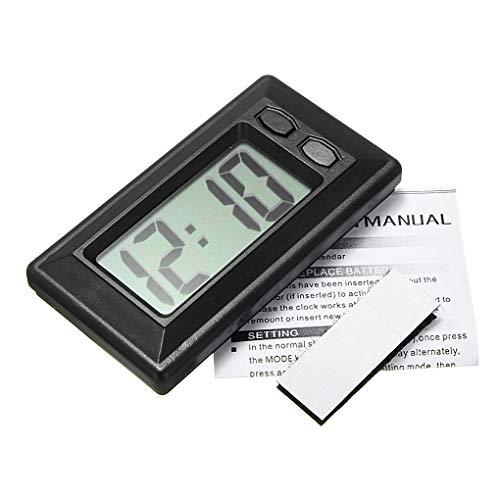 Windy5 Ultra-dünne LCD-Digital-Display-Träger-Auto-Armaturenbrett-Zeit-Kalender anzeigen Klebepad Uhr