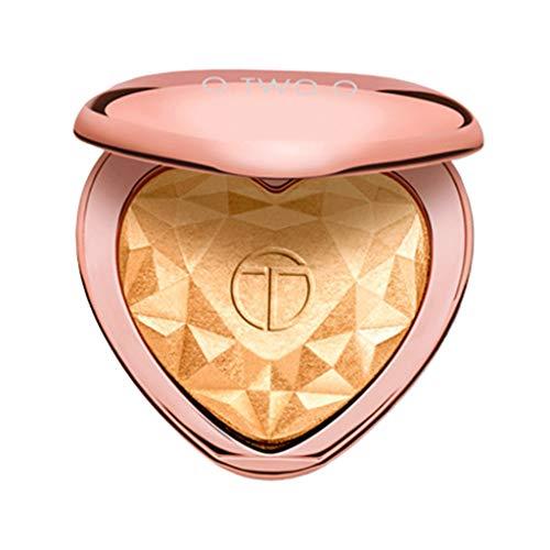 Toygogo Highlighter Iluminador en Polvo impermeable Brighten Powder Face Contour Make-up Designer Iluminador - Dorado