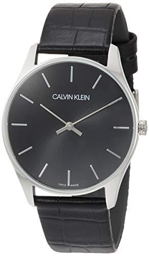 Calvin Klein Reloj Analógico de Cuarzo para Hombre con Correa de Cuero - K4D211C1